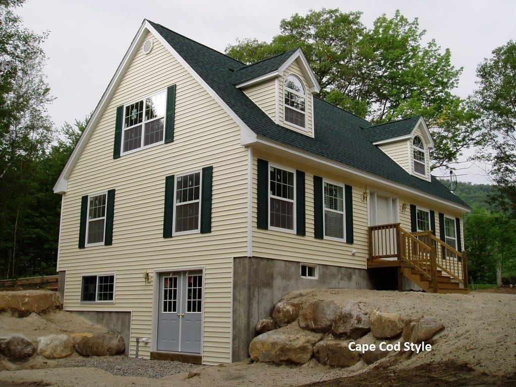 Cape cod chalet 2 storey gallery custom home for Cape cod model homes